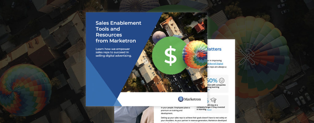 Sales Enablement Tools and Resources from Marketron